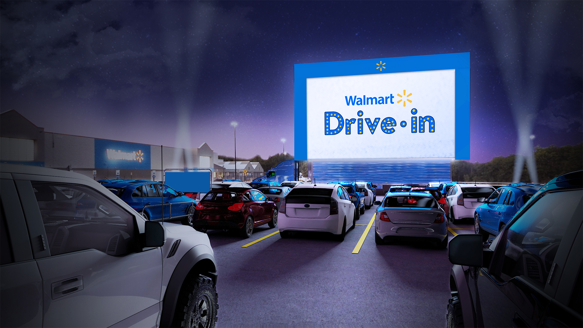 Walmart Is Turning 160 Of Its Parking Lots Into Drive In Theaters This Summer